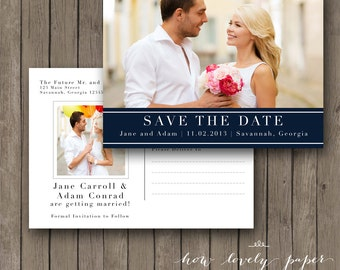 Printable Save the Date Photo Postcard - the Bella Collection