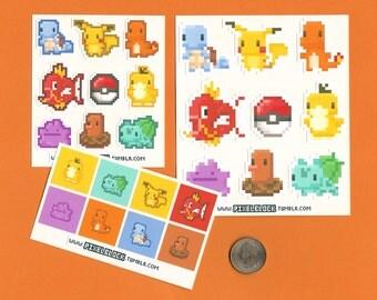1st Gen Pokemon Sticker 8 Packs - Free US Shipping