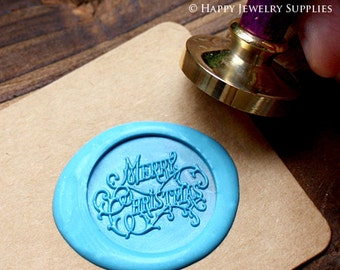 Buy 1 Get 1 Free - 1pcs Merry Christmas Gold Plated Wax Seal Stamp (WS070)