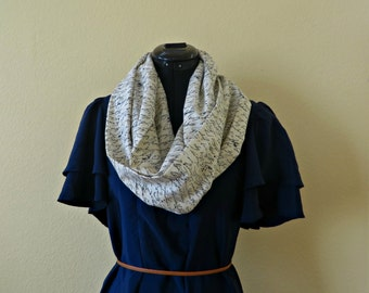 LIMITED EDITION Cursive Text Writing Cream and Black Infinity Scarf