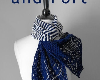 Starboard & Port SCARF Kit - Luxury Cashmere Fingering Weight - Merino, Cashmere and Nylon