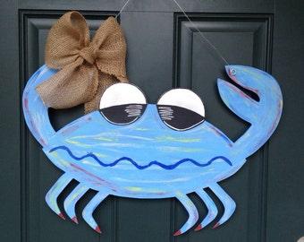 Custom Crab Wooden Door Hanger