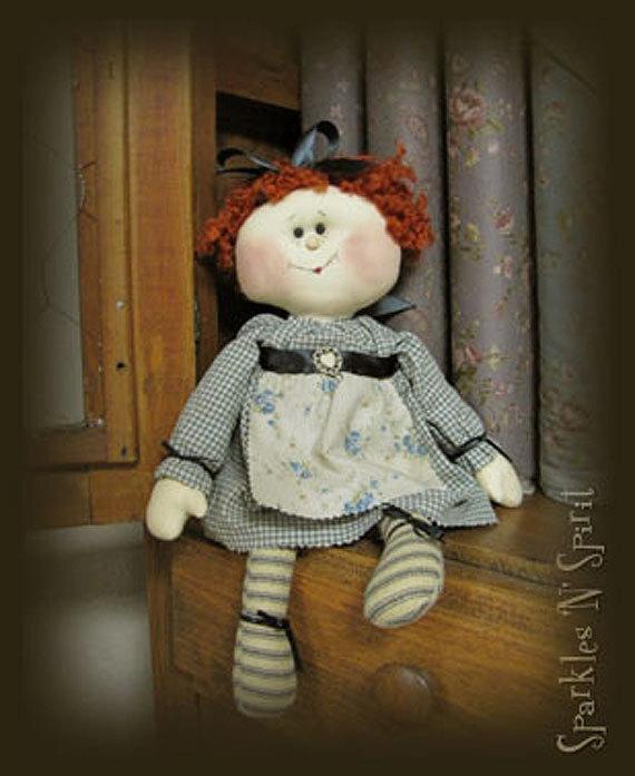 "Pattern: Rosie - 16"" Raggedy Doll"
