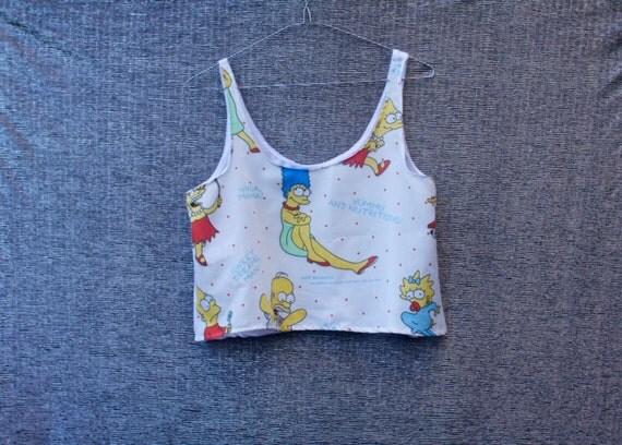 SALE - Simpsons Crop Top - LAST ONE