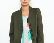SUMMER SALE! Green Jacket , Spring Jacket , Tailored Jacket , Office Wear , Olive Green Jacket , Classic Jacket , Green Blazer