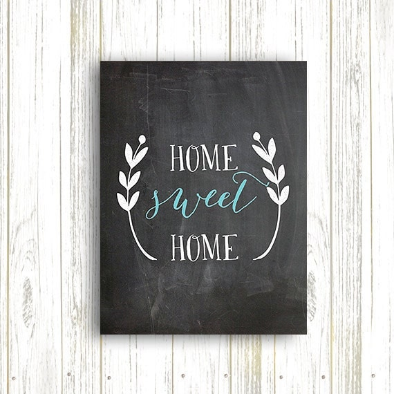Kitchen Art Printables Collection Sale Instant Download: 50% OFF.Home Sweet Home Chalkboard Print Home Decor