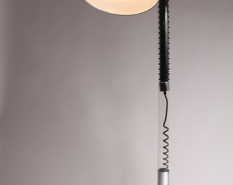 UNIQUE 70s FLEXIBLE HEAD floor lamp / torchere  retro  vintage modern era