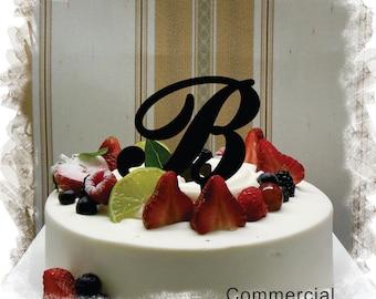 "Monogram Wedding Cake Topper - 5""or 6"" Beautiful Single Monogram letter Cake Topper ( Special Custom Made Initial Wedding Topper )"