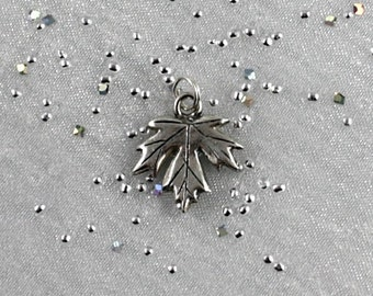 Canadian thank you gift. Maple Leaf charm pendant. Canadian Pacific