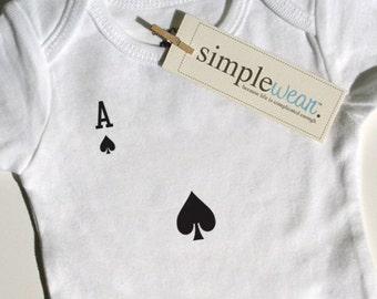single card draw baby bodysuit