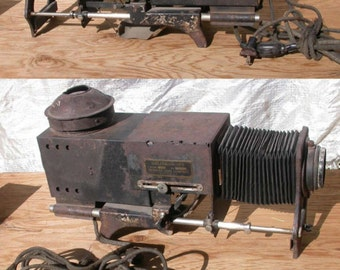 Magic Lantern, antique Delineascope, Spencer Lens Co.  model 0, steampunk, mad science