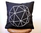 contemporary decor: geodesque. ooak throw pillow cover