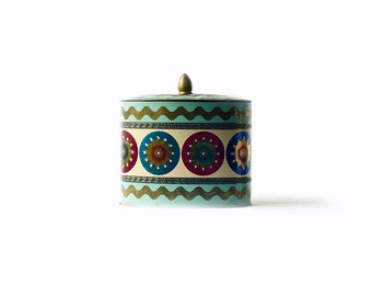 Vintage Tin | Oval | Greek