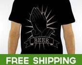 Stacking Stuffer - Beer Tee Shirt - black unisex t shirt