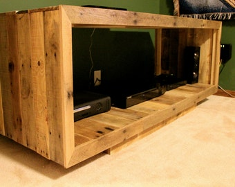 reclaimed pallet furniture. reclaimed pallet wood furniture media console