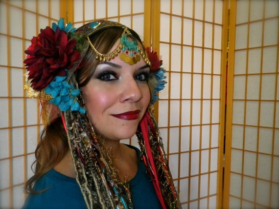 how to make a belly dance headdress