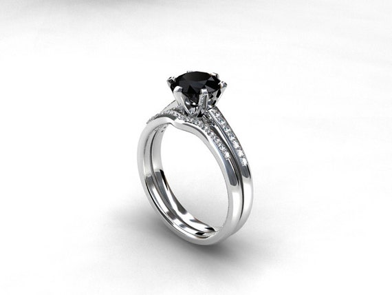 like this item - Black Diamond Wedding Ring Set