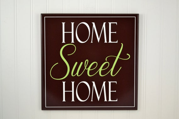 Items similar to Home Sweet Home Sign - Wood Home Signs ...