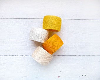 Yellow linen thread mix for handcraft