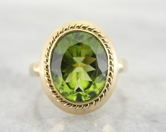 Antique Ladies Ring with Fine Peridot Center VP29DM