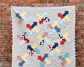 Digital pdf Quilt Pattern - Arrows All Around - Baby Quit - Lap Quilt - Twin Quilt - Pre-cut and Scrap Friendly - Modern Quilt
