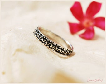 unique silver ring , ON SALE , thin silver ring , thumb ring , silver band ring , thin stacking ring , macrame jewelry , promise ring