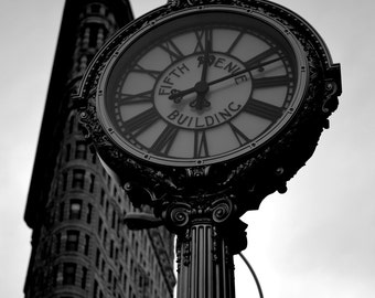 Fifth Avenue Clock New York City 8x10, 5x7, 11x14 and 16x20 available Home Decor Wall Art