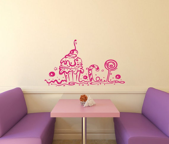 Wall Decals Bakery Shop Cafe Kitchen Decor Sweet By Decalhouse