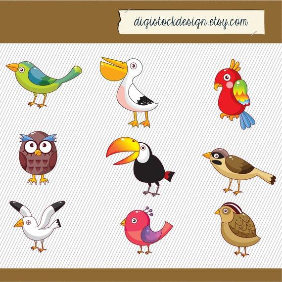 Birds Clipart Birds Illustration Set Of Birds Digital