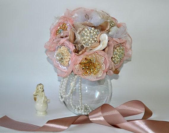 Bridal Bouquet Materials : Wedding brooch bouquet fabric flower by chistyakova