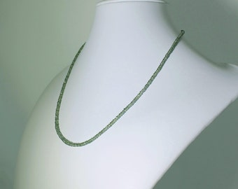 Green Sapphire Necklace Real Precious Sapphires Green Sapphire Necklace Genuine Sapphire Necklace September Birthstone Necklace GEM-N-101-GS