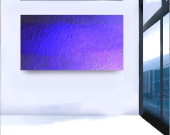 MODERN large original contemporary painting acrylic palette knife Made to Order abstract fine art Title: Blue Dream by Leearte