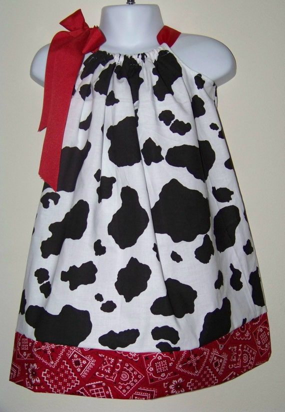 Cow Amp Red Bandana Pillowcase Dress Cowgirl Western Rodeo