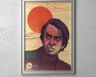 BILLIONS & BILLIONS - Carl Sagan - Original Art Poster