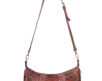 ISLAND. Leather crossbody bag / leather bag / crossbody bag / crossbody purse / brown crossbody bag. Available in different leather colors.