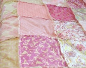 TWiN RAG QUILT // You PiCK CoLoR STYLe!! // Shabby Chic // Rustic Modern // Cottage, Handmade, Cozy, Luxe, Handmade Bedding, Quilt, Blanket