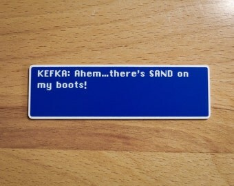 Kefka - Sand On My Boots - Final Fantasy VI Dialog Box