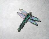 Dragonfly, Stained Glass, Suncatcher, Window Art, Decorative