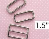 Strap Adjuster 1.5 Inch | Adjustable Messenger Bag Strap Hardware | Slider Triglider Crossbody Bag Strap Hardware Set