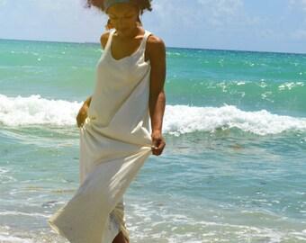 The Cara Mia Organic Maxi Dress. Sustainable organic hemp custom made clothing by Grateful Threads Asheville. Handmade. Conscious. Organic.