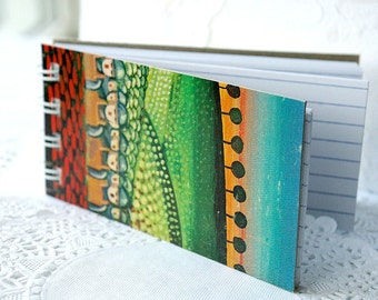 Mini Jot Down Journal, Spiral Bound Journal, Stocking Stuffer, Notepad