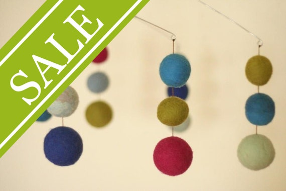 SALE - 20% OFF SALE - Huckleberry - Eco Friendly - Natural - Felted Wool - Baby Mobile