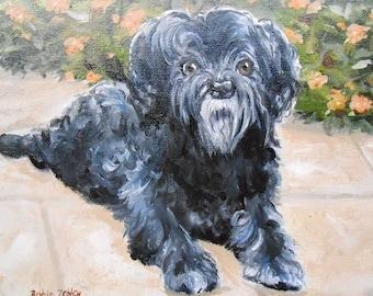 Custom Dog Portrait Oil Painting, by Artist Robin Zebley