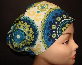 On Sale Euro Close Fit Suzzani Capri Medical Surgical Scrub Vet Nurse Chemo Hat