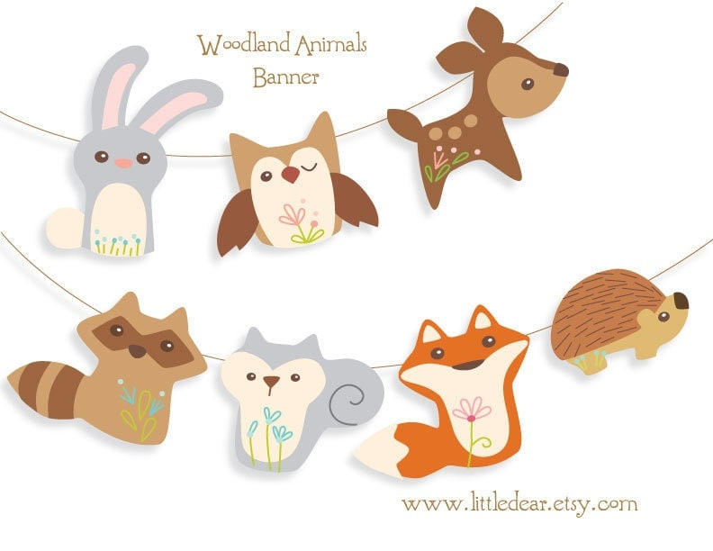 Canny image intended for printable woodland animals