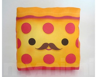 Food Pillow, Pepperoni Pizza, Pizza Pillow, Birthday Party, Throw Pillow, Kawaii, Room Decor, Dorm Decor, Toys, 7 x 7""