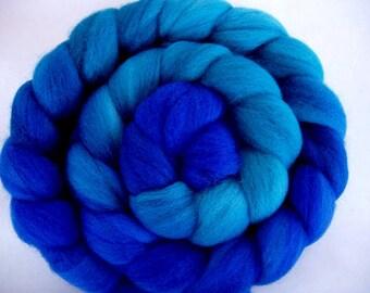 Merino superwash wool roving, merino spinning fiber, hand painted merino roving, handspinning, 3.5oz/100g