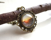 sunset over san francisco photo pendant necklace