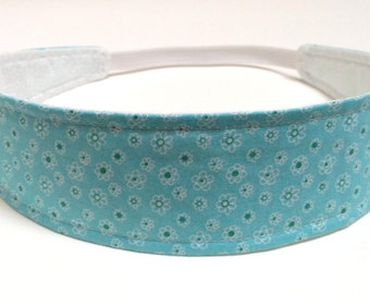 Little Girls Headbands, Kids Headbands, Baby Headband, Toddler Headbands, Reversible Fabric Headband - Blue Floral Headband - LIBBY