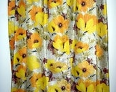 Vintage Window Treatments 6 Vintage Fabric Curtains Home and Living Decor & Housewares Drapes Drapery Cotton Retro Fabric